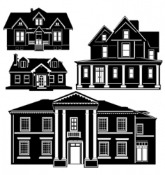 residences vector image