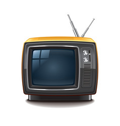 retro tv isolated vector image