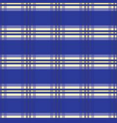 royal blue tartan stripes seamless pattern vector image
