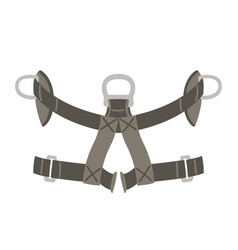 Safety belt flat style vector