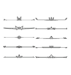 set dividers in border decorative design vector image