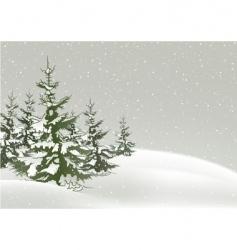 Snowy christmas vector