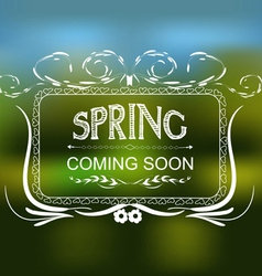 Spring coming soon typographic design vector image