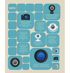 square label with cameras and space for text vector image