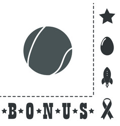 tennis ball icon sign and button vector image