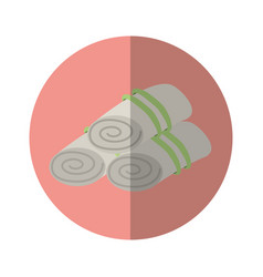 Towels set spa icon vector