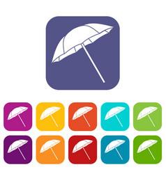 Umbrella icons set vector