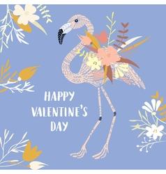 Valentine modern card vector image