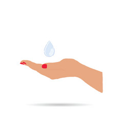 water drop in hand vector image