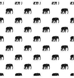Wild elephant pattern vector
