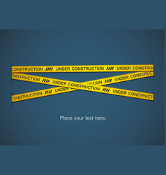 Yellow tape vector