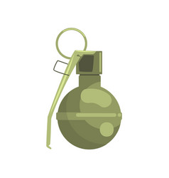hand grenade military weapon colorful vector image vector image