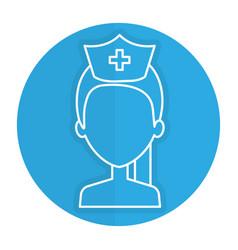 nurse professional woman of health shirtless vector image vector image