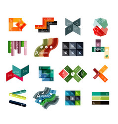 set of abstract geometrical infographic diagram vector image