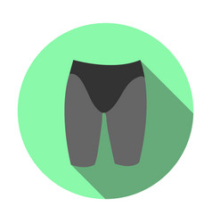 sports swimming jammers icon vector image