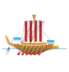 Ancient Egyptian warship vector image