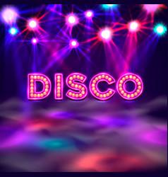 dance floor banner disco text signboard vector image