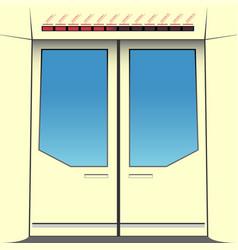 doors of subway train vector image vector image