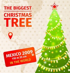 Infographic The biggest Christmas tree vector image vector image
