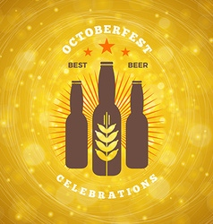 Retro vintage design element for brewery badge vector