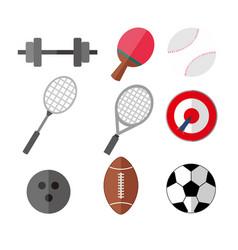 simple flat style sport eqipments graphic set vector image