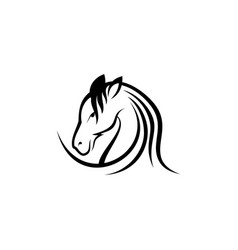 simple horse1 vector image