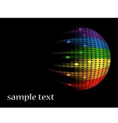 black background with multicolored round equalizer vector image vector image