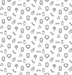 Electronics and mobile pattern seamless vector image vector image