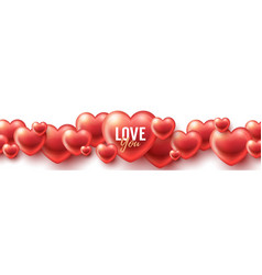 love you background vector image vector image