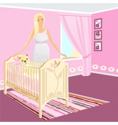 pregnant girl vector image
