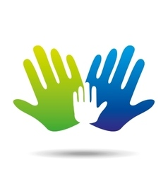 hands family concept icon design vector image vector image