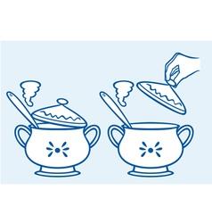 home kitchen pot vector image vector image