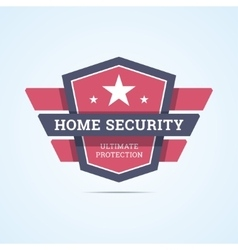 Home security badge vector image