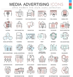Media advertising ultra modern color vector image vector image