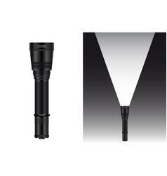 realistic waterproof flashlight vector image vector image