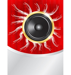 speaker on red background vector image vector image