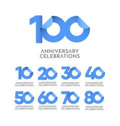 100 years anniversary celebration logo icon vector