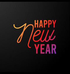 2021 happy new year dark background with colorful vector