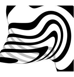 Abstract freeform lines squiggly line curvy lines vector