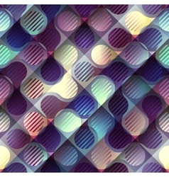 Abstract geometric purple pattern with joined vector
