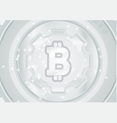 abstract technology background with bitcoin emblem vector image