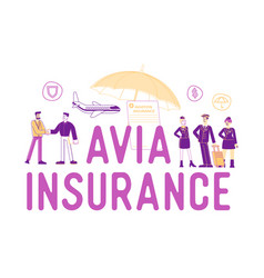 Avia insurance concept security and money vector
