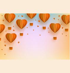 Background template papercut air balloon vector