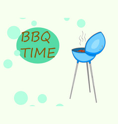 Barbecue or barbeque informally bbq or barby pop vector