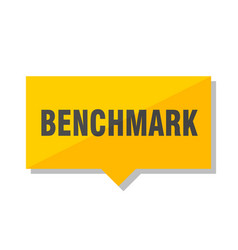 Benchmark price tag vector