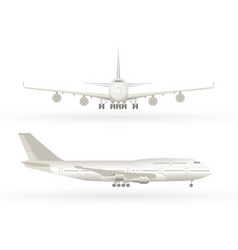 big commercial jet airplane airplane in profile vector image