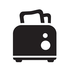 black toaster icon vector image