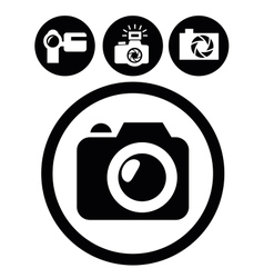 camera icons vector image