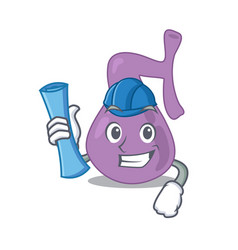 Caricature picture gall bladder architect with vector