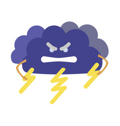 cartoon character weather forecast sign angry vector image